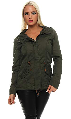 ONLY Damen Jacke Onllorca Spring Parka Jacket CC Otw, Grün (Grape Leaf), Gr.  S Grüne Damen Parka