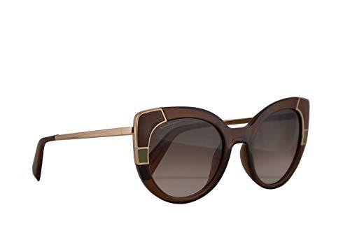 Salvatore ferragamo donne sf890s occhiali da sole w/grey gradient lens 52 millimetri 210 sf anni 890 cristallo brown grande