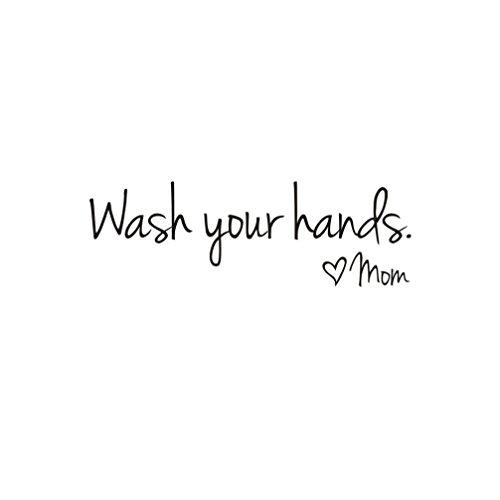 TAOtTAO Waschen Sie Ihre Hände Mama Home Decor Wandaufkleber Decal Schlafzimmer Vinyl Kunst Wandbild