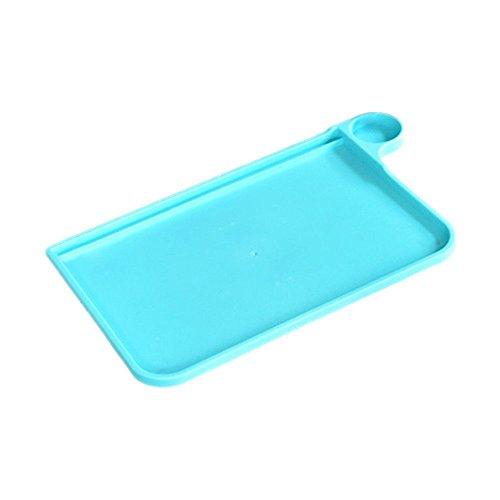 TRIXES Bandeja Plegable Portátil - Azul - para la Cama, Sofá, TV Cena, Desayuno, Desayuno en la Cama, Escritorio, Lectura