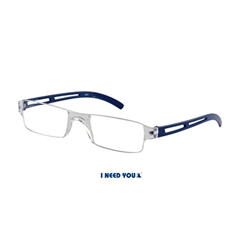 I Need You Lesebrille Joy - Dioptrien: +2,00 Kristall-Blau