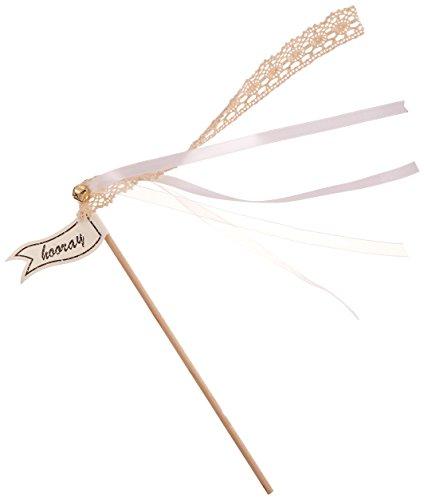 Ginger Ray Konfetti Alternative Vintage Hochzeit Zauberstäbe (10Pack), Gold oder elfenbeinfarben...