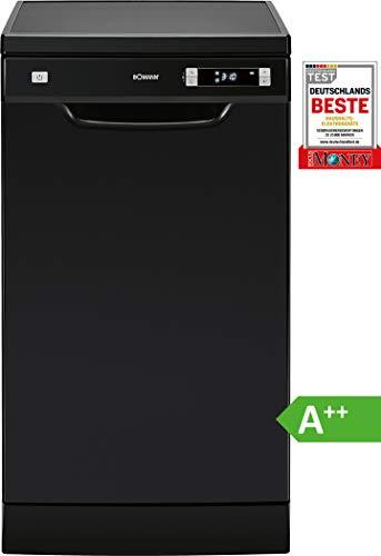 Bomann GSP 863 Geschirrspüler/EEK A++ / Stand/Unterbau / 45 cm / 211 kWh / 10 MGD / 6 Programme/schwarz