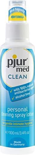 pjur med CLEAN - Hygienespray mit antibakteriellem Wirkstoff - zur schonenden Reinigung der Haut & Intimbereich - 1er Pack (1 x 100 ml)
