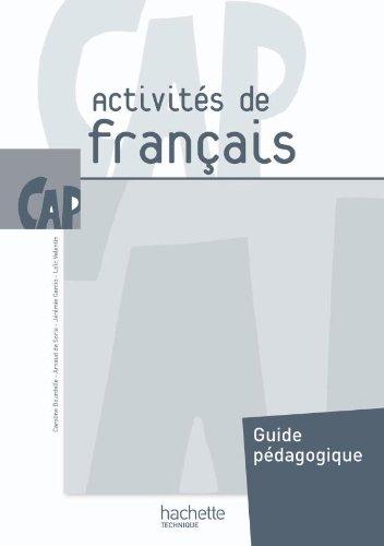 Activités de Français CAP - Livre professeur - Ed.2010