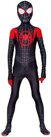 Kids Spiderman Costume New Spider-Man Into The Spider-Verse Miles Morales Cosplay Costume Zentai Suit Hallowee