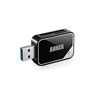 Anker® USB 3.0 Card Reader 8-in-1 for SDXC, SDHC, SD, MMC, RS-MMC, Micro SDXC, Micro SD, Micro SDHC Card, Support UHS-I Cards, 18 Months Warranty