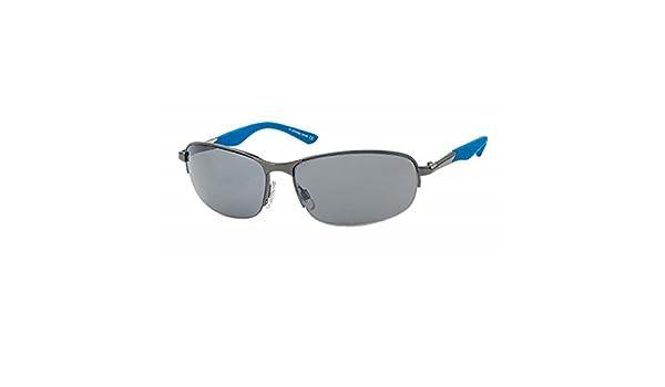 Details zu Sonnenbrille sportlich unten frameless schmal 400UV Herren Bügel farbig