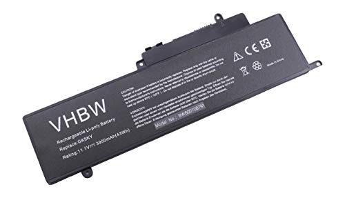vhbw Batterie Li-ION 3900mAh (11.1V) pour Ordinateur Portable, Notebook Dell Inspiron 11 3147, 11 3147 3000 11.6', 13 7347 comme GK5KY, 04K8YH.