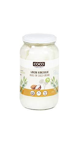 Huile de Coco Bio 1L - Vierge Extra - Fair Trade - Première pression à froid