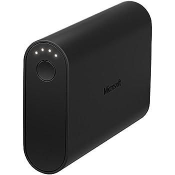 Microsoft 02745C5 Batterie de secours avec Câble Micro USB pour Smartphone 9000 mAh Noir