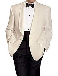 Amazon.fr   Ecru - Costumes et vestes   Homme   Vêtements 126a1dea88b