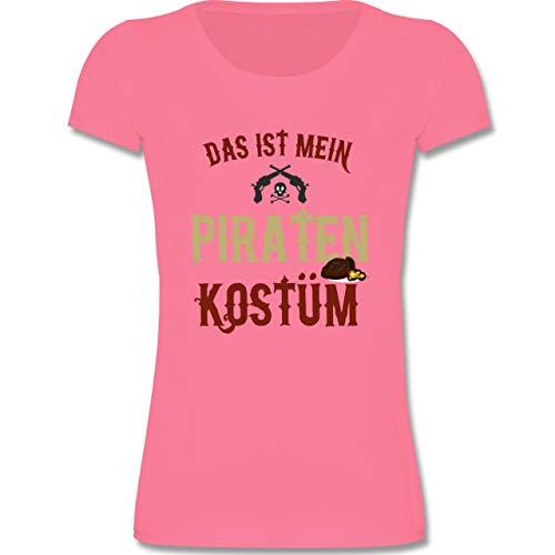 (Karneval & Fasching Kinder - Das ist Mein Piraten Kostüm - 152-164 (12-14 Jahre) - Rosa - F288K - Mädchen T-Shirt)