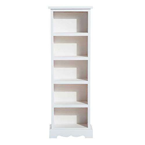 Nuofake DVD-Bodenständer Holzturm 5 Fächer Weiß, Schrank, Regal, Kleiderschrank, Schuhschrank The Essential