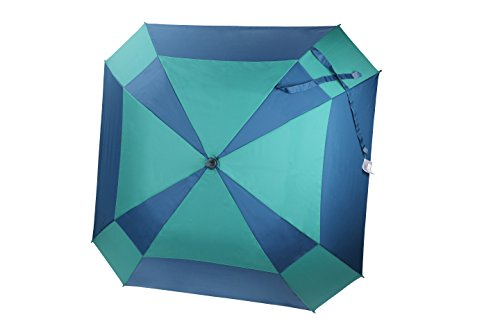 rain-street-folding-umbrella-automatic-wind-resistant-double-layer-mosaic-blue
