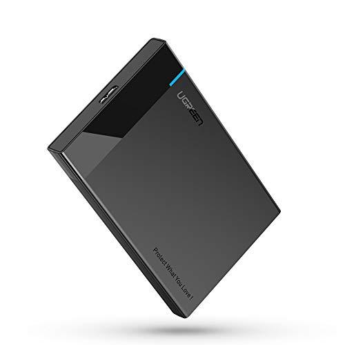UGREEN Case Esterno per Disco Rigido 2.5 USB 3.0 6 TB UASP 5Gbps Case Hard Disk Esterno per 7 e 9.5 SATA I II III HDD SSD 2.5 Compatibile Samsung WD