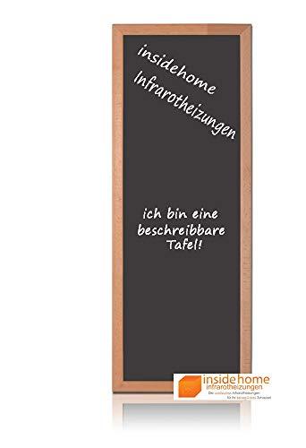 insidehome   Infrarotheizung Tafel CLASSIC   Vollholz - Rahmen Buche 30mm   hochwertige Glasheizung sandgestrahlt   deutscher Hersteller   250 Watt (90x35x2,5 cm)