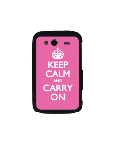 Keep calm and carry on Statement Schutzhülle für HTC WildfireS, Rosa - Polycarbonate Carry On