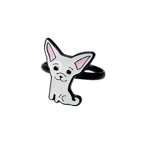 YYL Kreativer Entwurf Netter Tier-justierbarer Ring,Chihuahua-Ring,Einheitsgröße -
