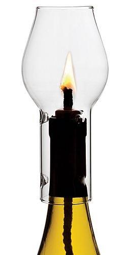Multi-Colored Glas Wein Kerze Schornstein gesetzt (Glas-schornstein Für Kerzen)