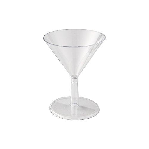 WNA Petites 24Zählen Martini Gläser aus Kunststoff, transparent, 2oz