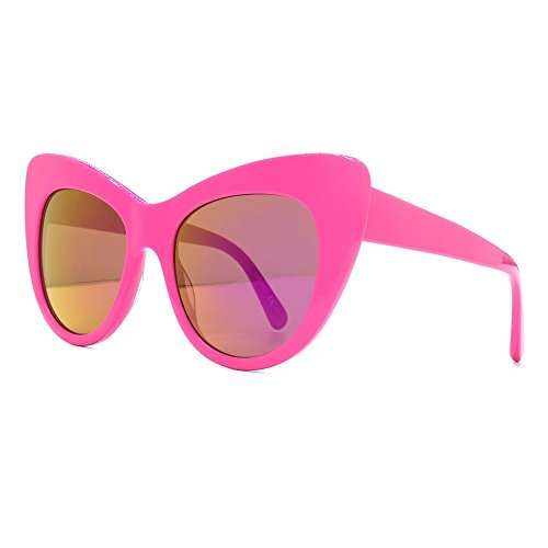 stella-mccartney-lunette-cateye-falabella-oversize-en-rose-vif-sc0006s-005-53-53-pink-mirror