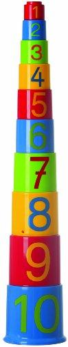GOWI 453-31 Zahlenpyramide, Sortier-, Stapel- und Steckspielzeug, 10 teilig gestapelt