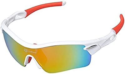 HYSENM TR90fotocromáticas ligero UV400polarizadas gafas de sol con 5intercambiables lente Deportes Ciclismo Pesca