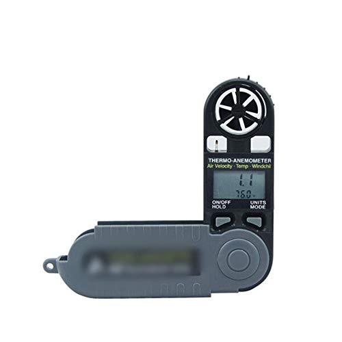 HOUYAZHAN Anemometer Zwei-in-Eins-Taschenanemometer Zusammenklappbares digitales Windmessgerät mit hoher Präzision (Farbe