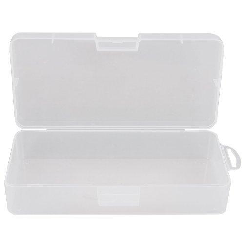 Scatola Contenitore in Plastica Trasparente Rettangolare per Gioielli 18cm x 8.5cm X 4.5cm