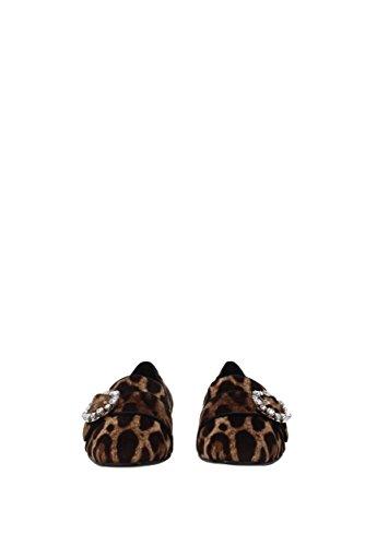 Dolce & Gabbana Mocassins Femme - Velours (CP0090AM355) EU Marron