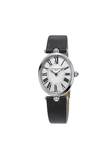 Frederique Constant Women's Quartz Watch with White Dial Analogue Display and Black Various Strap