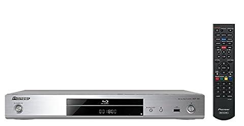 Pioneer BDP-180-S 3D Blu-ray Player (HDMI, 4K UltraHD Video Scaler, DLNA 1.5, App Steuerung, WiFi, 2x USB) (Blue Ray Player Silber)