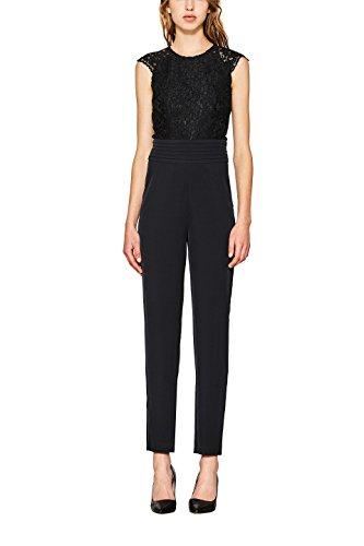 ESPRIT Collection Damen Jumpsuit 117EO1L003, Schwarz (Black 001), 36