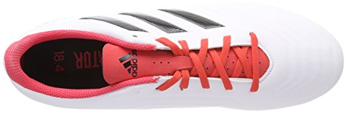 adidas Predator 18.4 FxG, Chaussures de Football Homme Noir (Ftwr White/core Black/real Coral S18)