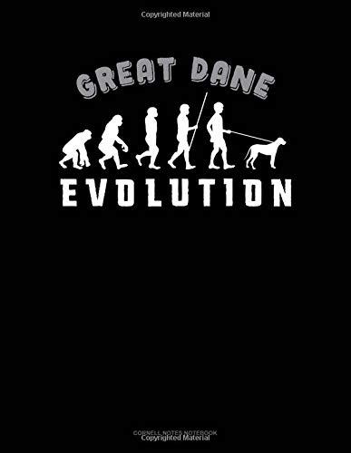 Great Dane Evolution: Cornell Notes Notebook por Jeryx Publishing