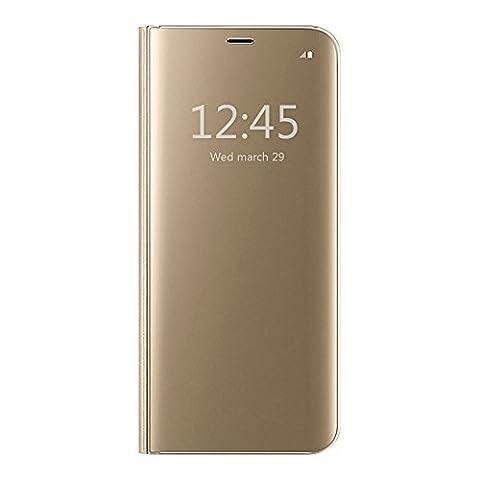 Coque Galaxy A5 2017/A520,Grandcaser Clear View Etui Flip Folio Coque