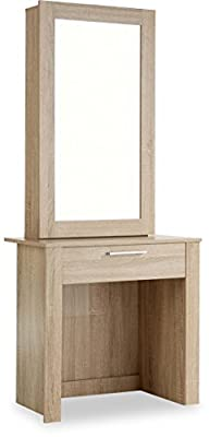 ValuFurniture Hobson Dressing Table and Sliding Mirror Set - Oak - cheap UK dressing table shop.