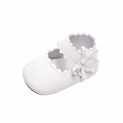 Zapatos de Bebe Niñas Recién Nacido Primeros Pasos Antideslizante Suela Blanda Zapatos de Princesa...
