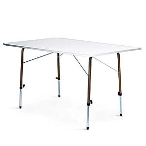 Zempire XL Campingtisch EXTREM ROBUST und STABIL, bis zu 6 Personen geeignet, höhenverstellbarer Outdoor-Tisch