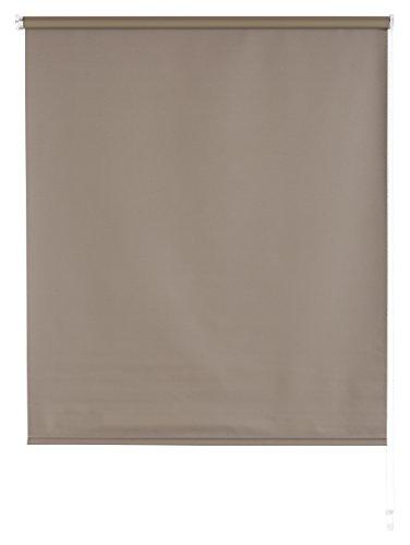 Blindecor b100-tenda a pacchetto tipo blackout in voile, tinta unita 120 x 175 cm tortora