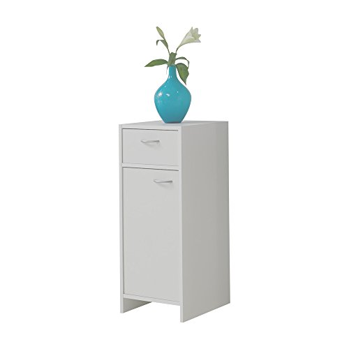 FMD Möbel 901-002 Madrid 2 - Mueble auxiliar para baño (32,5 x 79x33 cm), color blanco