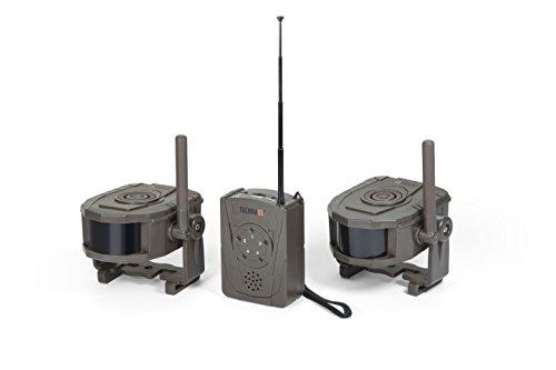 Technaxx Wireless Security Alarm-Set TX-104 Empfänger mit 2 Sensoren zur Bewegungserkennung Jagd/Camping/Überwachung-Sicherheit im Haus Überwachungskamera Jagdalarm