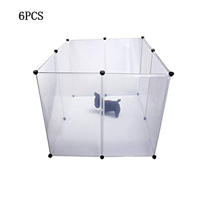 Belletryh88 Kennel Multifunctional Easy To Install Transparent Free Combination Include 6pcs Fence Simple Design Firm For Small Dogs by Belletryh88