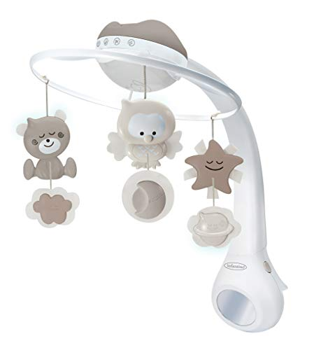 Infantino 004915 Proiettore musicale mobile Dolce notte 3 in 1