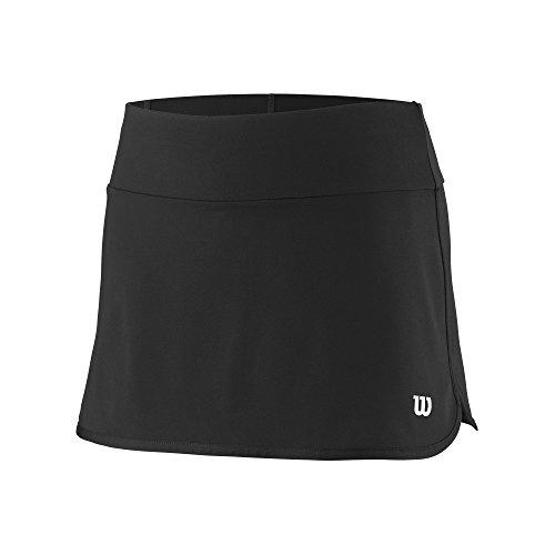 Wilson Mädchen Tennis-Rock, G Team 11'' Skirt, Polyester/Elasthan, Schwarz, Größe: M, - Für Kinder Tennisröcke
