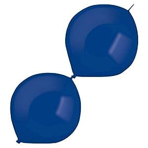 amscan 9905652 50 - Globos de látex (izquierdos), Color Azul