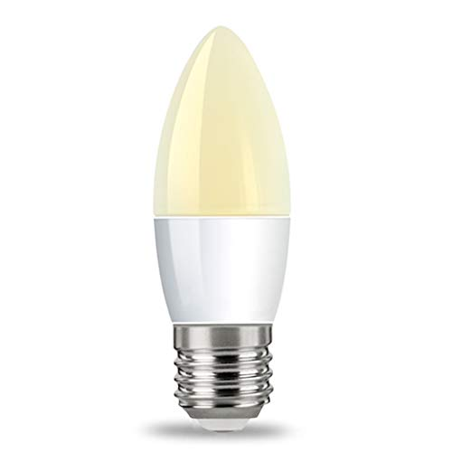 YAYZA! 4er Pack E27 ES Edison-Schraube 6W Netzspannung LED Kerzenlicht Glühbirne 500lm 50W Halogen gleichwertig mit 270 Grad breitstrahlender Lampe Farbe Warmweiß 3000K -