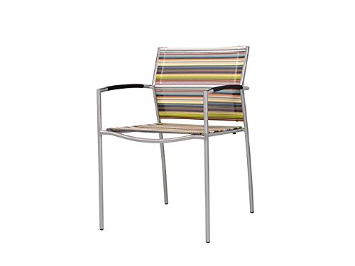 ROVEX Garten Stuhl stapelbar Zebra Textilene gestreift