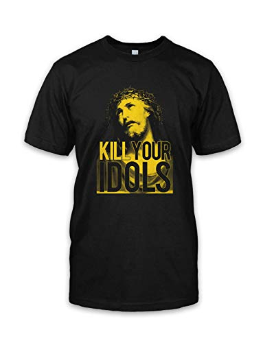 net-shirts Kill Your Idols T-Shirt Metal Heavy Metal Kult Jesus, Größe XXL, Schwarz